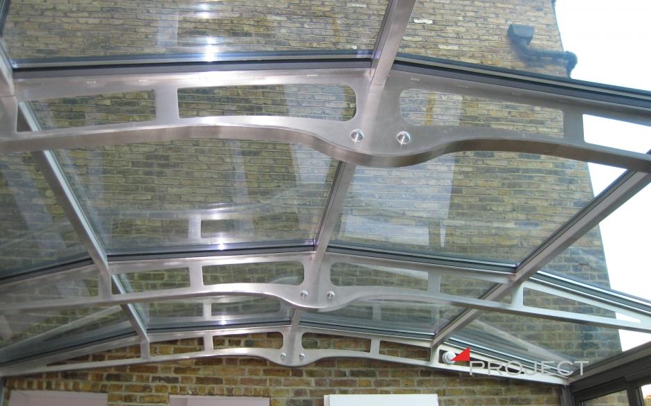 Copertura in acciao inox - Londra